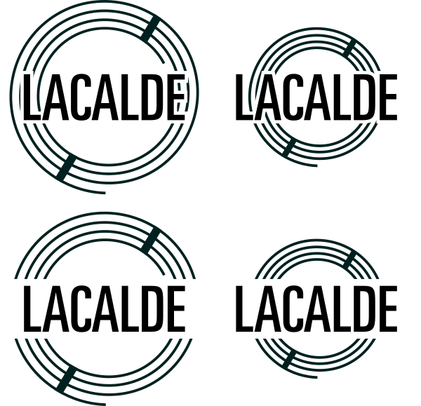 Adding the Lacalde text to the logo